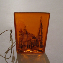 1942-09-19/20 German WHW donation gift. German monuments - Stephansdom - Vienna (AUT). Glass orange 35x25mm T507 (16289)
