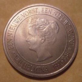 Beatrix - Medal Dutch Mint Museum 2008 - Wilhelmina. Nickel       (12820)