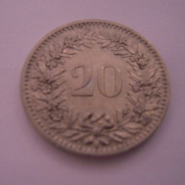 Switzerland - 20 Rappen 1920. Ni KM29 (15270)