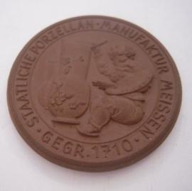 1934 Meissen , Erinnerung an den Besuch I. Meissen Porzellan 50mm Sch2073a - VII (14756)