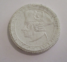 1922 Rastenburg , 4th Grenadiers WKI memorial donation. Max. 200 pcs made !!! Meissen Porcelain 40mm Sch852n - R !!! (16199)