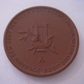 1933 Bayreuth , 50 yrs death Richard Wagner 1815 - 1883. Meissen Porcelain 50mm Sch1037a - VII (16069)