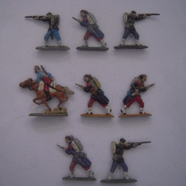1850-71 French infantry , 8x semi-flat 40mm scale (14661)