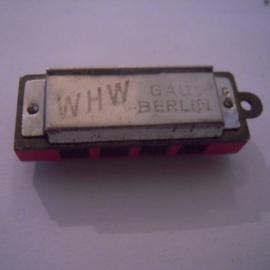 Gau Berlin 1930's WHW Spende. Mundharmonika 10 Ausgänge !!! 37mm T014b (15923)