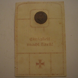 1915 Field postcard with cu medal - stamped Bamberg 15-6-1915       (14270)