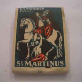 Belgium WHW donation gift. 1941 Match box St.Martin - Ganshoren - Verkocht ten bate van Winterhulp. Complete ca. 37x48mm T004a (15234)