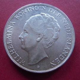 Wilhelmina - 2½ Gulden 1939. Xf !!! Silver KM165 (7365)