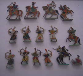 1700's  Ottoman cavalry and archers , 15x flat 30mm scale. Hans Walz - Walddorf  (15392)