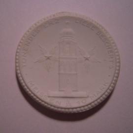 Meissen , 10 Mark 1921 - Gedenkklokkenfonds. Meissen Porselein 40mm Sch379n - IV (14085)