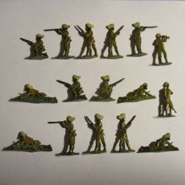 1900 - WWI British Indian Army , Punjabis , 16x in original box , flat 30mm scale. Heinrichsen - Nürnberg (16427)