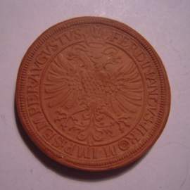 1922 Ulm , 1 Harter Taler 1620. Majolika-Werke Gaildorf 38mm  Sch584a - III (14881)