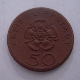 Lippstad , 50 Pfennig 1921. Meissen Porselein 27mm Sch157a - II (14491)