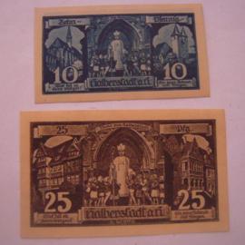 Halberstadt , 10 + 25 Pfennig 1921. GM504.2 (16031)