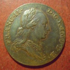 Francis II , 2 Liard 1793     AKS97/KM57 (11421)