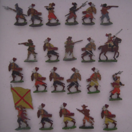 1400 - 1500's  Spanish imperial army , 22x flat 30mm scale. Kieler Zinnfiguren (16119)