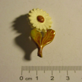 Gau Westfalen-Nord 1942 WHW Spende. Blumen - Maguerite. Kunststoff mit Nadel T057 (16359)