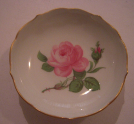 Meissen Porcelain - Small presentation plate rose designe with gilded edge 80x20mm hand painted (16109)