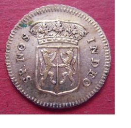 Gelderland , ½ Duit 1756 , struck in silver !!!  Very rare !!    Ge121/KMA88/V20.6 (9700)