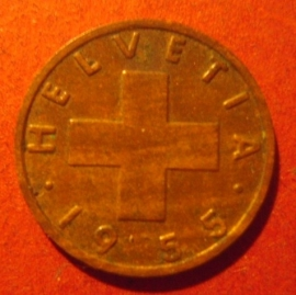1 Rappen 1955      KM46 (11878)