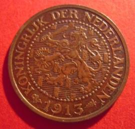 Wilhelmina - 2½ Cent 1915. Xf+ !!! Bronze KM150 (7310)