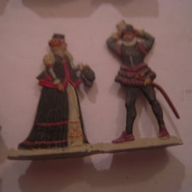1600's Civilians city life , 17x flat 30mm scale. Very nice detailed paint job (16074)
