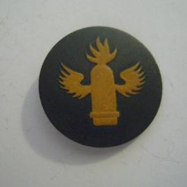 Gau X Weser-Ems 1940's - Tag der Wehrmacht Spende. Laufbahnabzeichen - Marineartillerie. Pappeabzeichen mit Nadel T01 (13706)