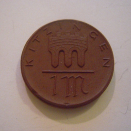 Kitzingen , 1 Mark 1921. Meissen Porzellan 28mm Sch150a - II (15162)