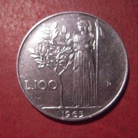 Italian Republic , 100 Lire 1965       KM96 (12545)