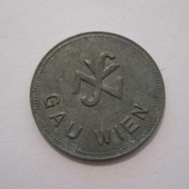 Gau Wien / Vienna WHW donation token - NSV logo. Zinc 27mm (16361)