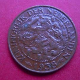 Wilhelmina - 1 Cent 1938. Bronze KM152 (3949)