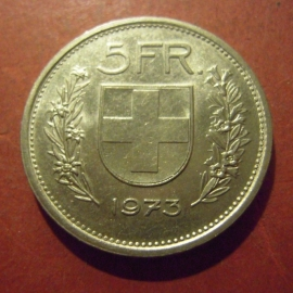 Switzerland - 5 Franken 1973      KM40a (11999)