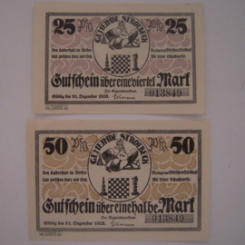 Ströbeck , 25 + 50 Pf.  1921. GM1285.2 (14732)