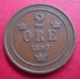 Oscar II , 2 Öre 1893     KM746 (2973)