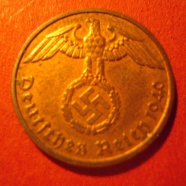 Germany - Third Reich , 2 Reichspfennig 1940 E , near Unc !!     J362/KM90 (7025)