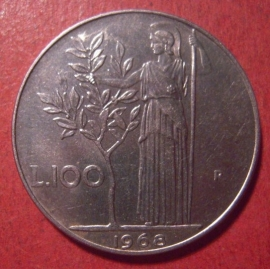 Italian Republic , 100 Lire 1968      KM96 (12560)