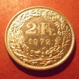 2 Franken  1972      KM21a (11994)