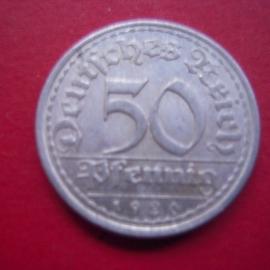 Weimar Republic - 50 Pfennig 1920 A. Al J301/KM27 (3593)