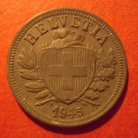 2 Rappen 1945 B  Zinc     KM4a (11876)