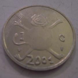 Beatrix - 1 Gulden 2001 - Last gulden. Unc !!! KM233 (14317)
