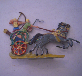 1000 BC Egyptian war chariot , 1x flat 30mm scale. Kieler Zinnfiguren (15628)