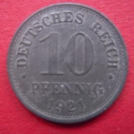 10 Pfennig 1921       J299/KM26 (6696)
