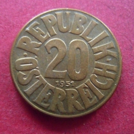 20 Groschen 1951       ANK013/KM2877 (7387)