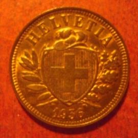 2 Rappen 1936 B     KM4 (11347)