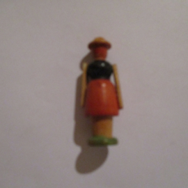 1942-12-19/20 German WHW donation gift. Wooden toys - Farmers wife T530 (16250)