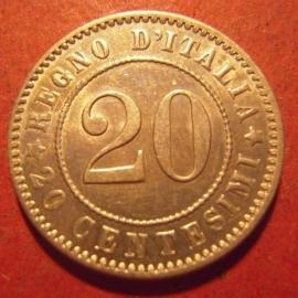 Kingdom Italy - Umberto I , 20 Centesimi 1894 XB     KM28.1 (12077)