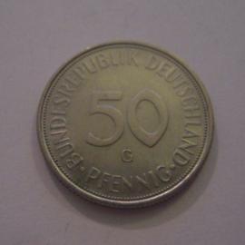 Germany - BRD , 50 Pfennig 1971 G      J384/KM109.1 (14963)