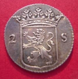 Utrecht , 2 Stuiver 1785 reeded edge / kabelrand !!! Rare !!!     Ut87/KM112 (1536)