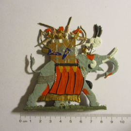 200 BC Soldiers on Carthaginian war elephant 1x flat 30mm scale. Kieler Zinnfiguren (16338)