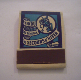 Belgium WHW donation gift. 1941 Match box St.Martin - St. Martens-Lennick - Vendu au benefice Secours d'hiver. Complete ca. 37x48mm T002b (15231)