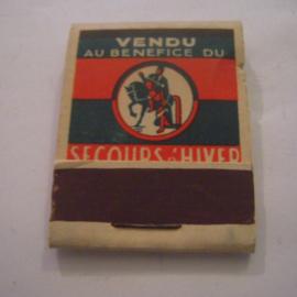 Belgium WHW donation gift. 1941 Match box St.Martin - Ganshoren - Vendu au benefice Secours d'hiver. Complete ca. 37x48mm T004b (15235)
